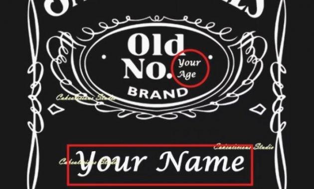 Free Jack Daniels Label Template Elegant Blank Jack Daniels Label Template 12 Clarifications