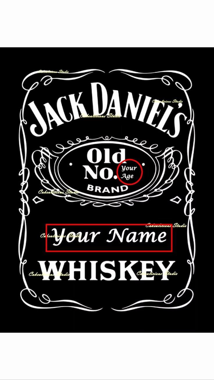 Free Jack Daniels Label Template Fresh Personalised Edible Icing Sheet Jack Daniels Door