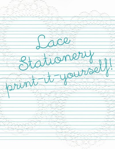 Free Lined Stationery Templates Beautiful 6 Best Of Lace Stationery Printable Free
