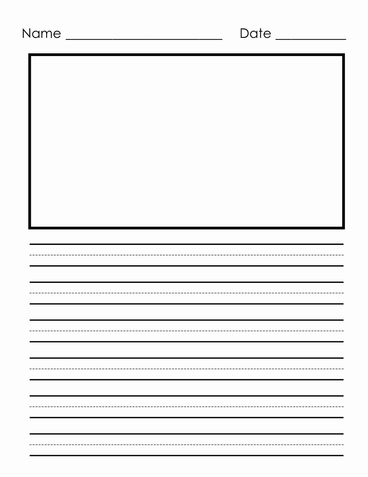 Free Lined Stationery Templates Inspirational Writing Paper Printable for Children