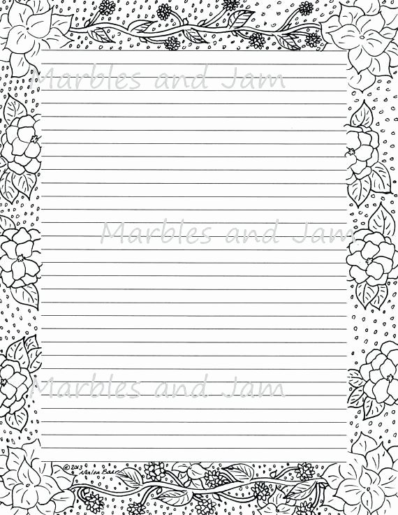 Free Lined Stationery Templates Unique Printable Writing Lines Template Lined