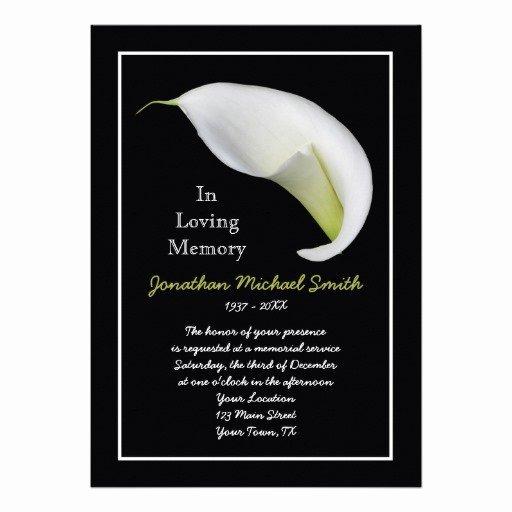"Free Memorial Cards Template New Memorial Service Invitation Announcement Template 5"" X 7"