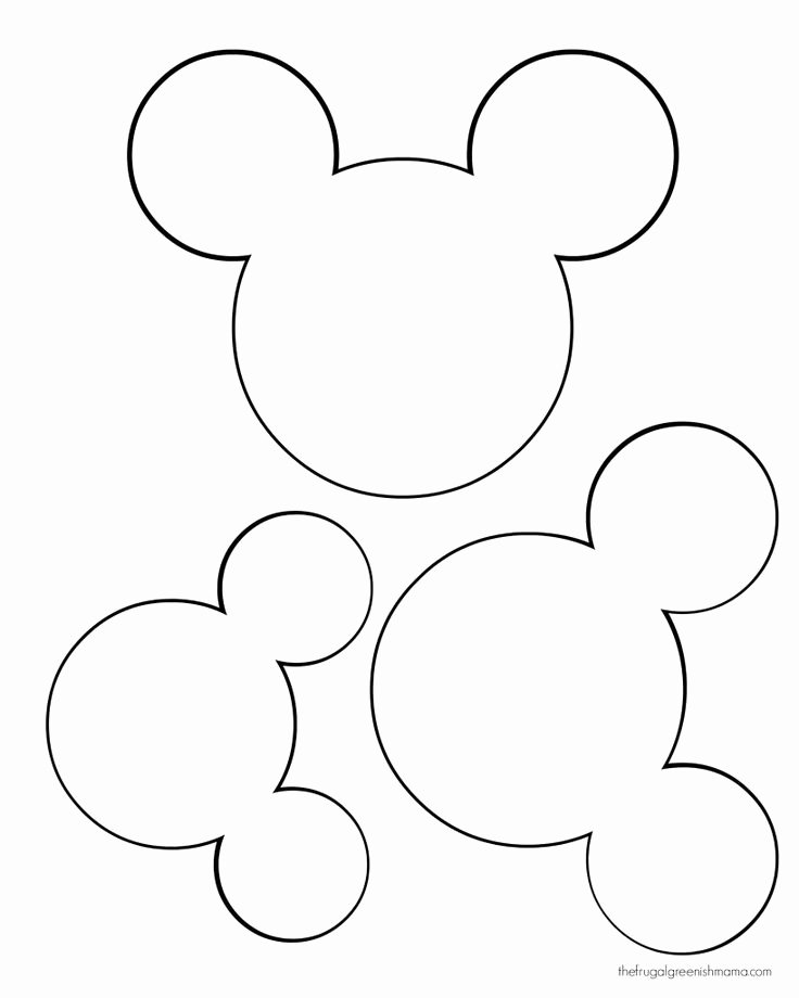 Free Mickey Mouse Template Elegant 25 Best Ideas About Mickey Mouse On Pinterest