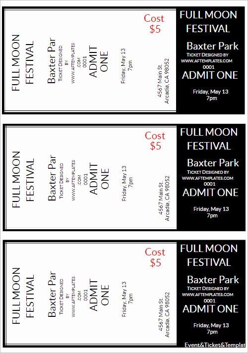 movie ticket template psd