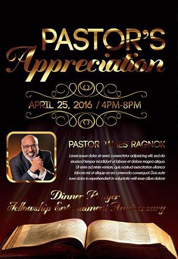 pastor anniversary service program free bi fold psd brochure template