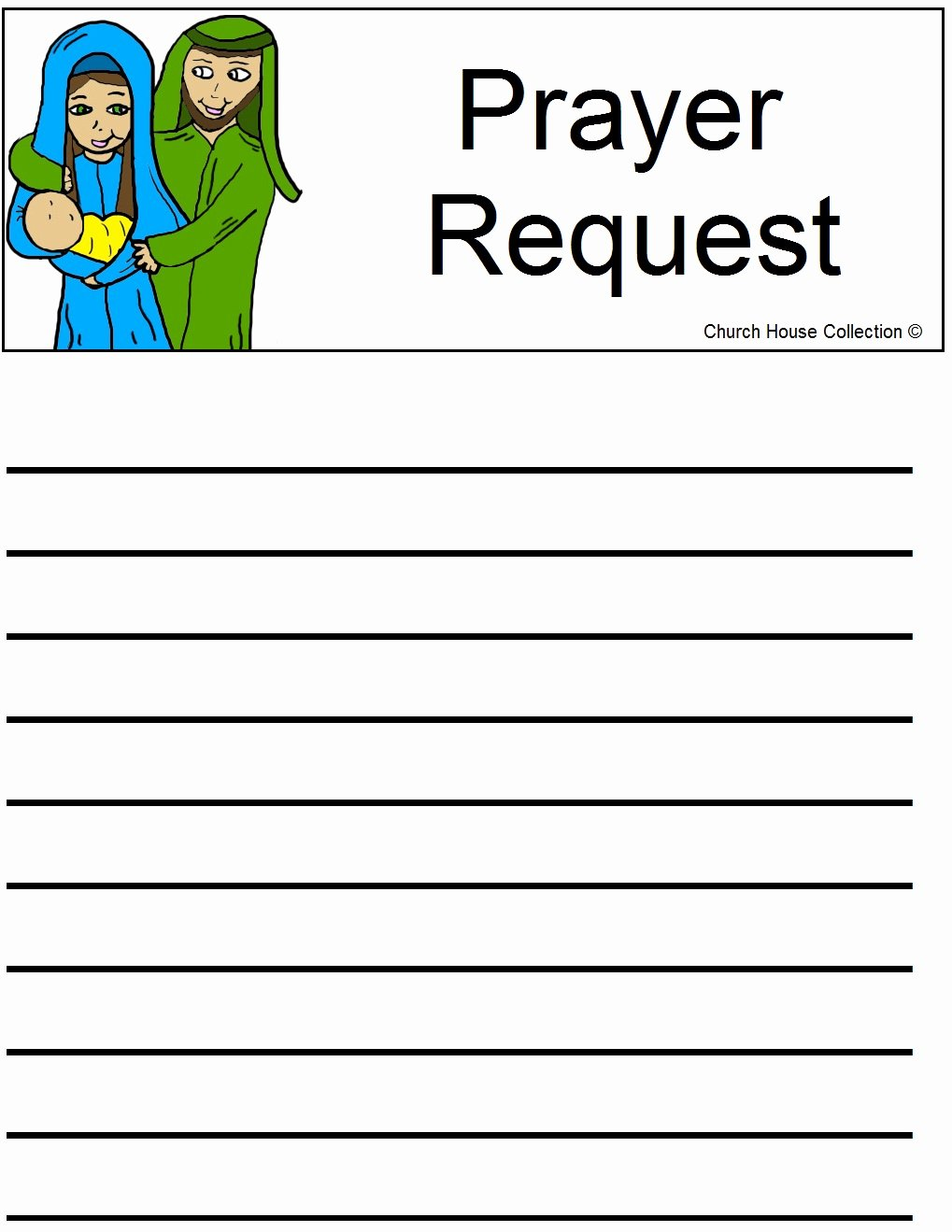 Free Prayer Card Template for Word Awesome Nativity Prayer Request Sheet