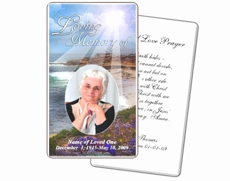 Free Prayer Card Template for Word Fresh Best 25 Funeral Prayers Ideas On Pinterest