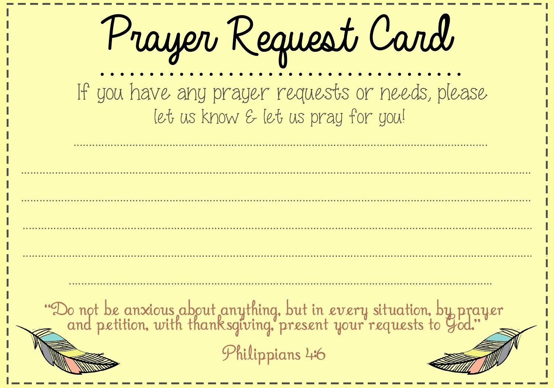 Free Prayer Card Template for Word Fresh Prayer Request Card Idea Mops Pinterest