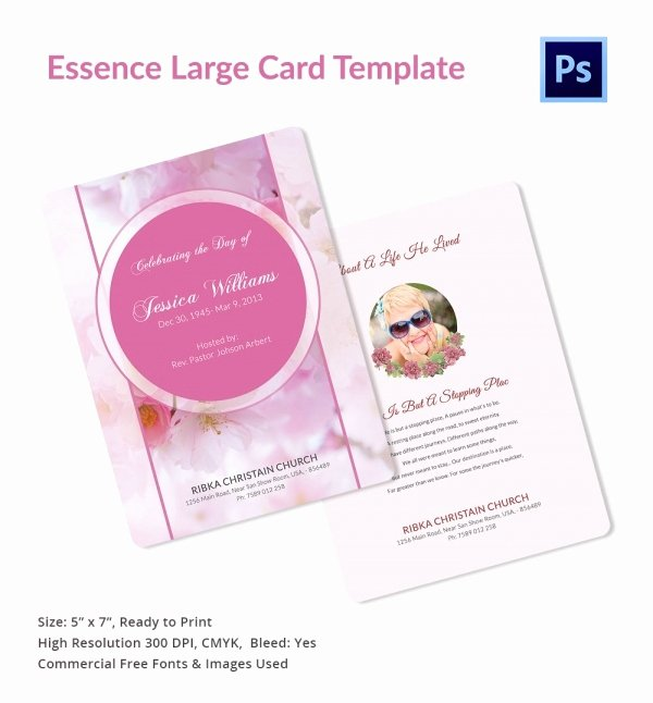 Free Prayer Card Template for Word Lovely 20 Funeral Program Templates – Free Word Excel Pdf Psd