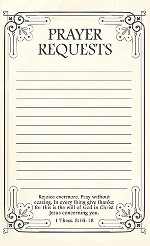 Free Prayer Card Template for Word Lovely Free Printable Prayer Request forms