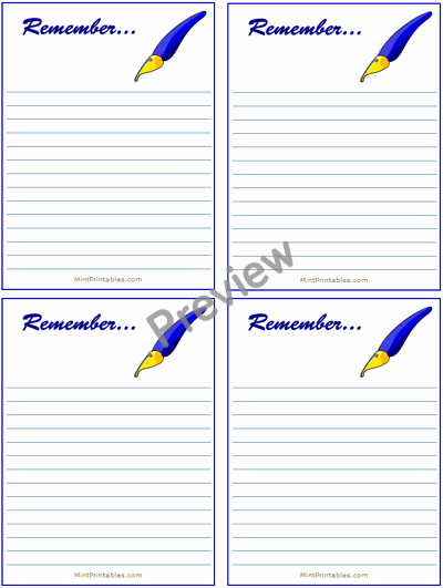 Free Printable Appointment Reminder Cards Beautiful Pen A Quick Reminder Free Printable Reminders