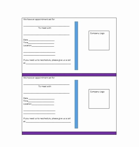 Free Printable Appointment Reminder Cards Inspirational Medical Appointment Cards Templates Bing Images