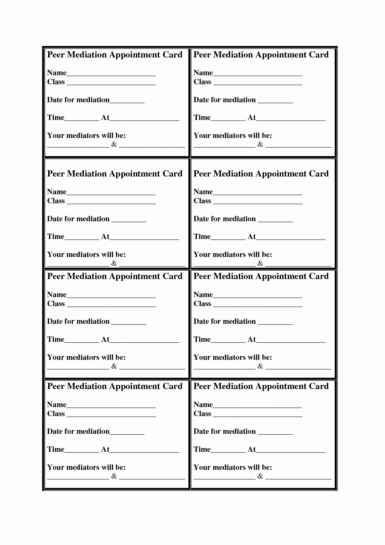 Free Printable Appointment Reminder Cards Lovely Medical Appointment Cards Templates Bing Images