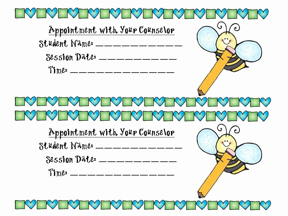Free Printable Appointment Reminder Cards New the Stylish School Counselor No Interruptions and some