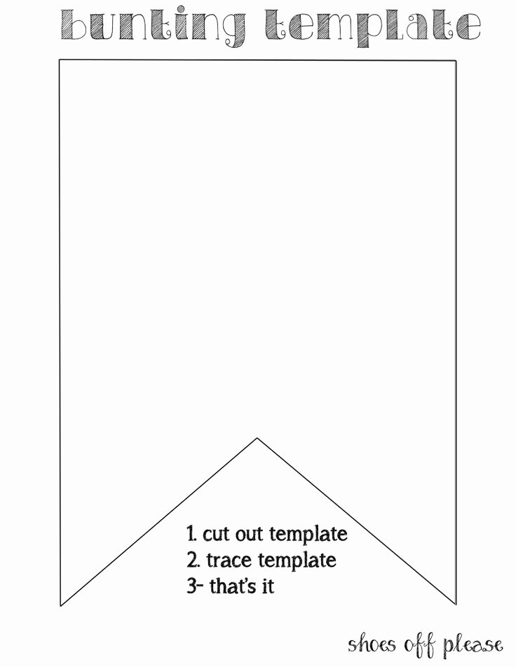 Free Printable Banner Template Awesome 25 Best Ideas About Bunting Template On Pinterest