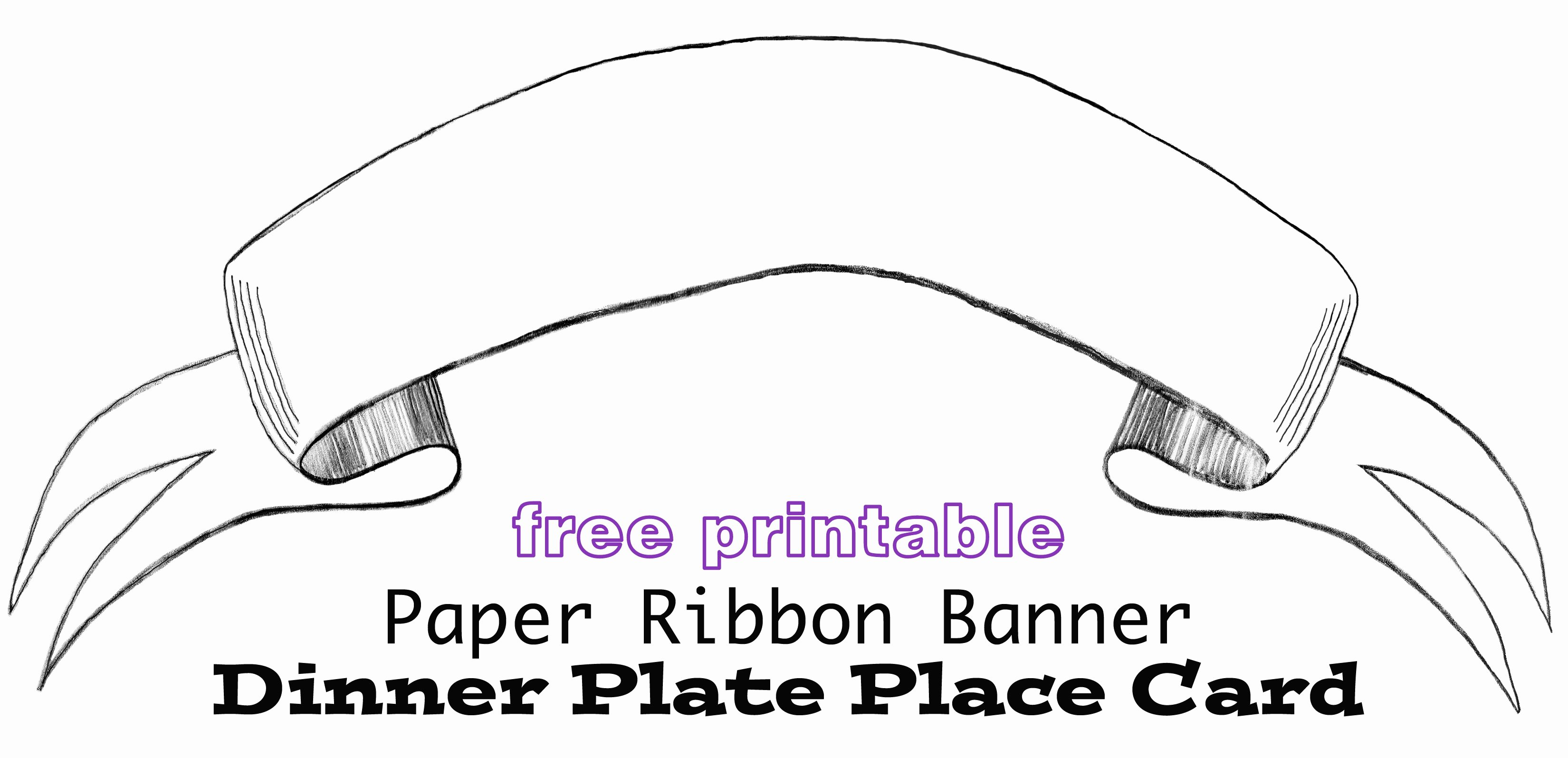 Free Printable Banner Template Awesome Printable Paper Banner Dinner Plate Place Card In My Own