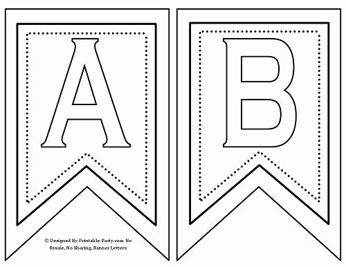 Free Printable Banner Template Fresh Free Printable Banner Letters A Z 0 9 Th St Rd Nd