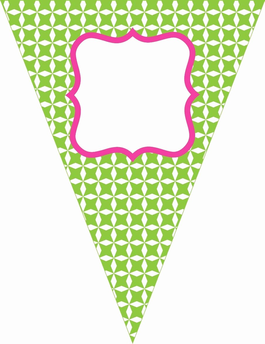 Free Printable Banner Template Lovely Free Contemporary Happy Birthday Pennant Banner Pink