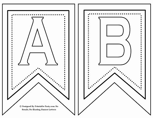 Free Printable Banner Template Lovely Free Printable Alphabet Letters