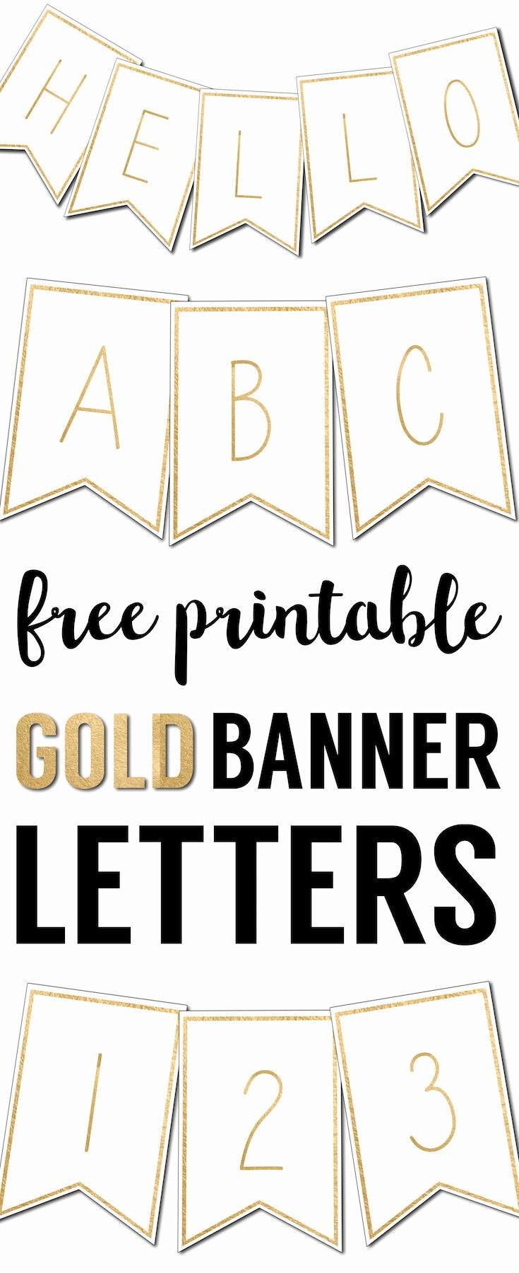 Free Printable Banner Template New Free Printable Banner Letters Templates Paper Trail Design