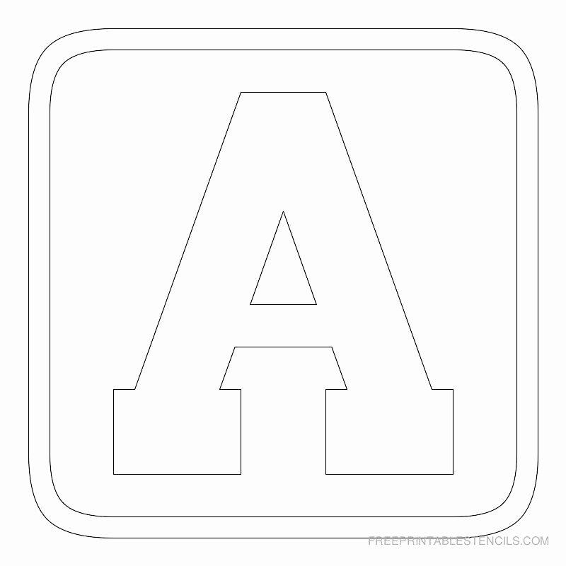 Free Printable Block Letters Beautiful Free Printable Alphabet Stencils