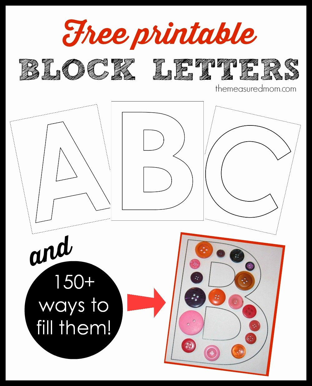 Free Printable Block Letters Fresh Printable Block Letters and Over 150 Ways to Fill them