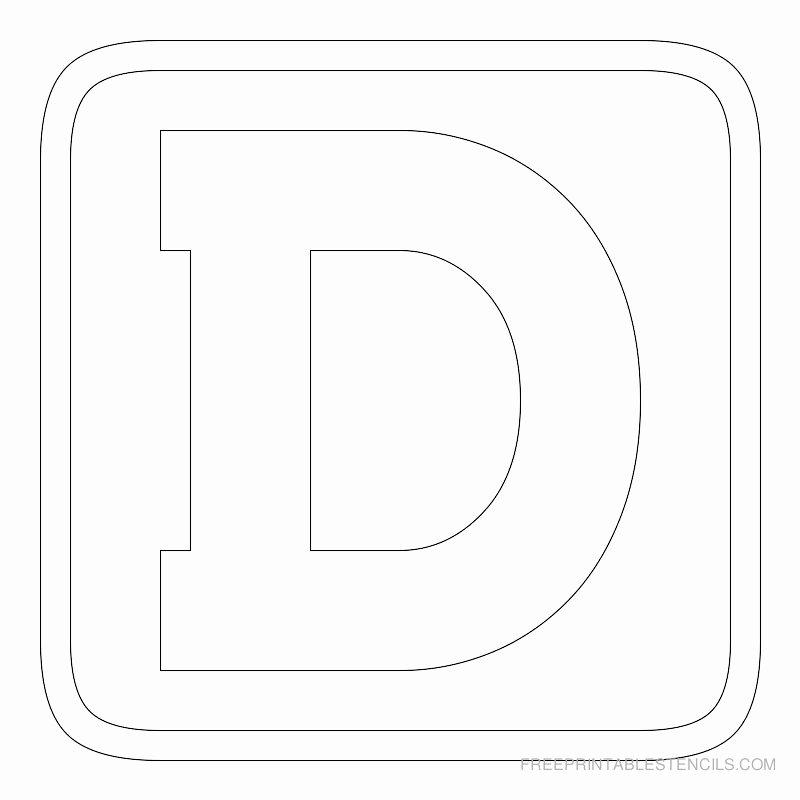 Free Printable Block Letters Inspirational Printable Block Letter Stencils