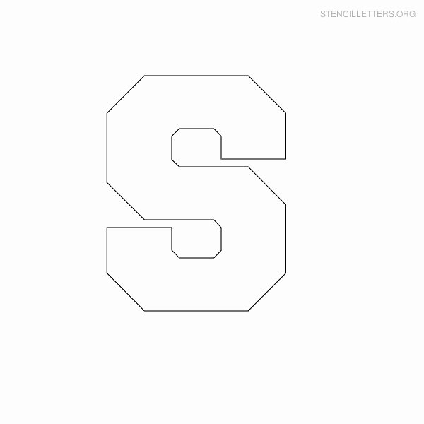 Free Printable Block Letters Inspirational Stencil Letters S Printable Free S Stencils