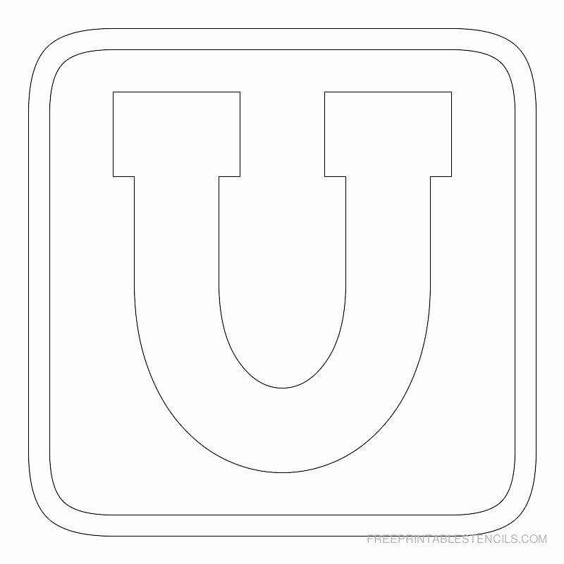 Free Printable Block Letters Unique Printable Block Letter Stencils