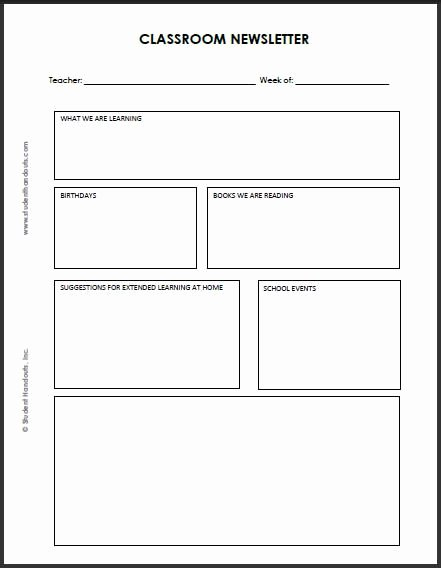 Free Printable Classroom Newsletter Templates Inspirational 92 Best Images About Classroom Newsletter On Pinterest