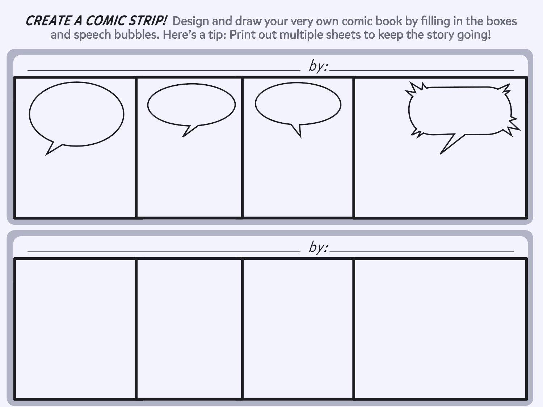Free Printable Comic Strip Template Best Of Create A Ic Strip Printable Template