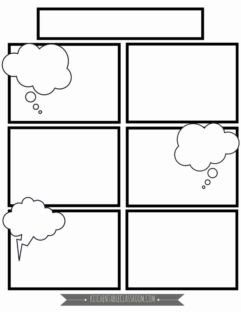 Free Printable Comic Strip Template Elegant Ic Book Templates Free Printable Pages the Kitchen