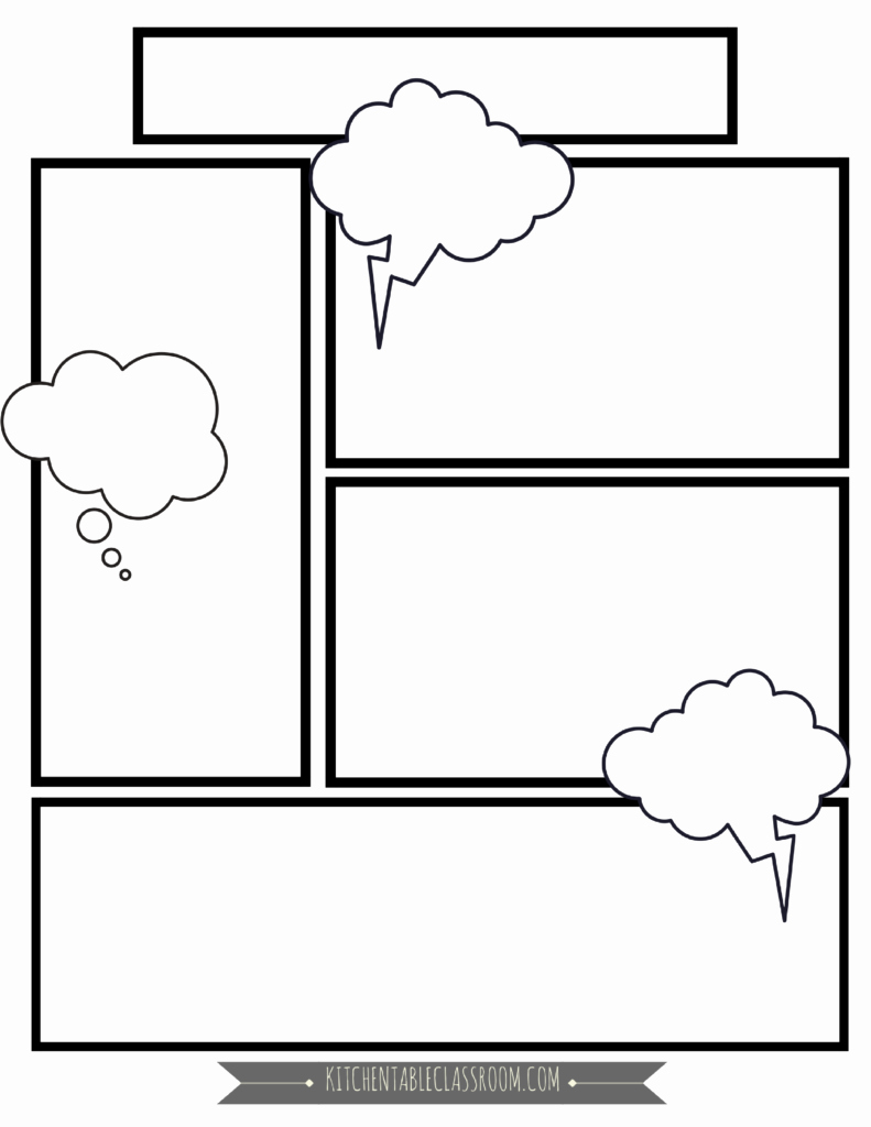 Free Printable Comic Strip Template Lovely Ic Book Templates Free Printable Pages the Kitchen