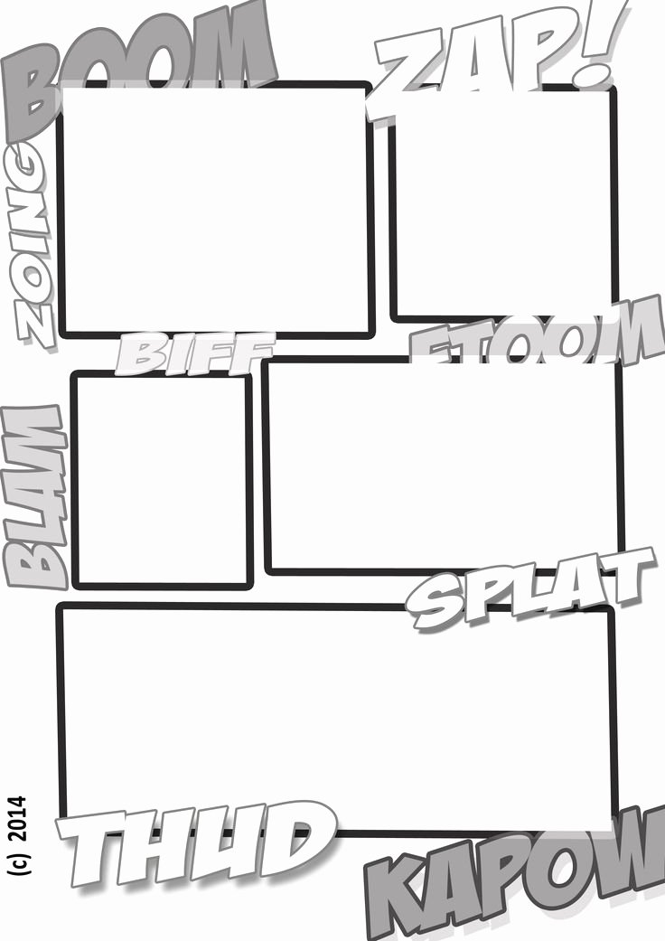 Free Printable Comic Strip Template Unique A Fun Ic Book Style Template for Kids to Create their