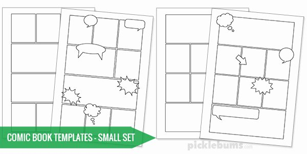 Free Printable Comic Strip Template Unique Free Printable Ic Book Templates Picklebums