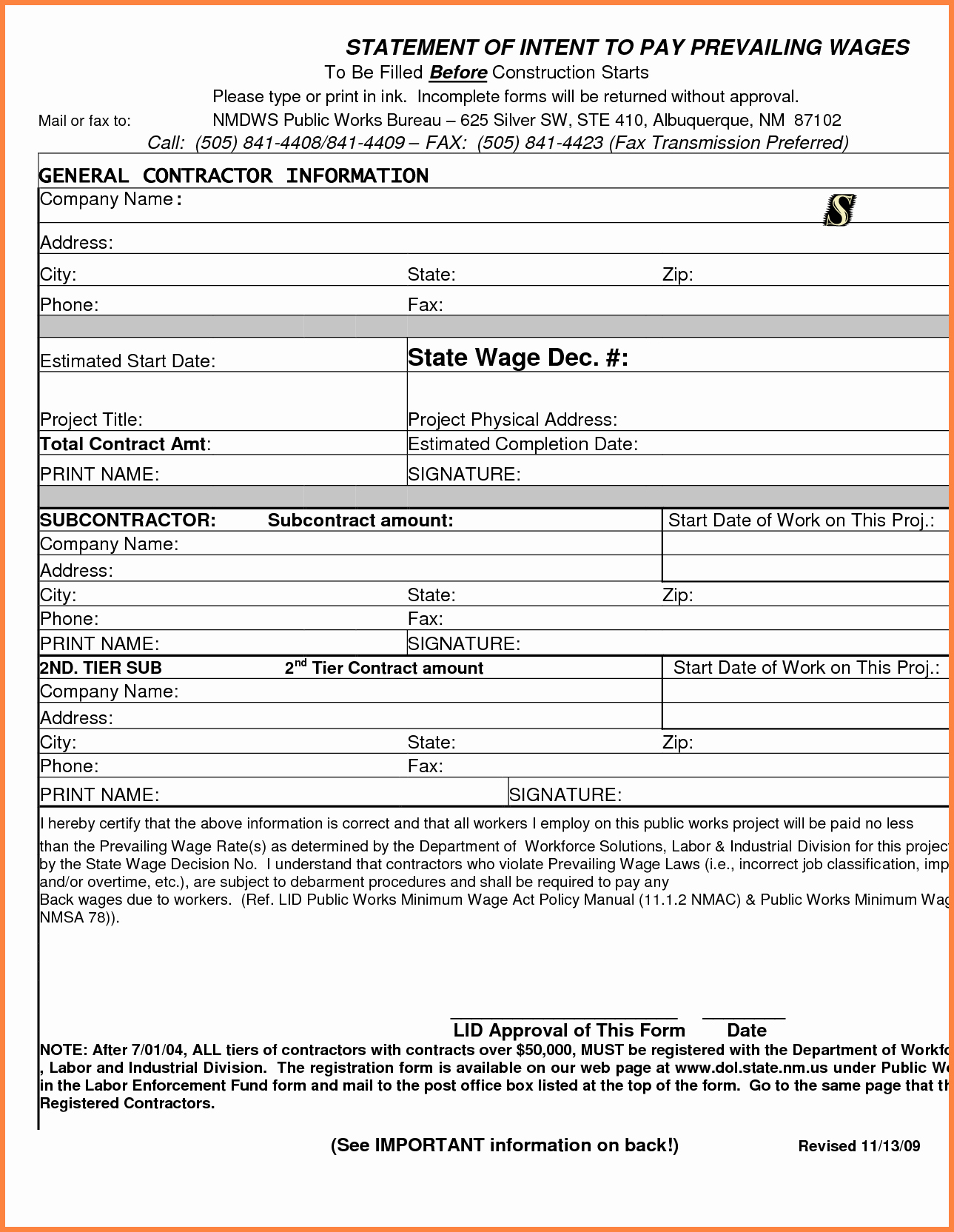 Free Printable Contractor Proposal forms Elegant 12 Contractor forms
