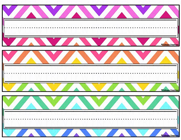 Free Printable Desk Name Plates for Students Lovely Name Cards for Kids 1 Free Printable Desks and Students