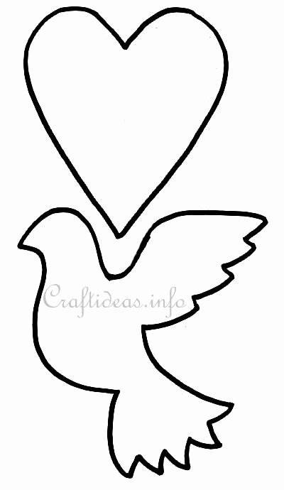 Free Printable Dove Template Best Of Free Wedding Craft Template or Pattern Turtledove and Heart