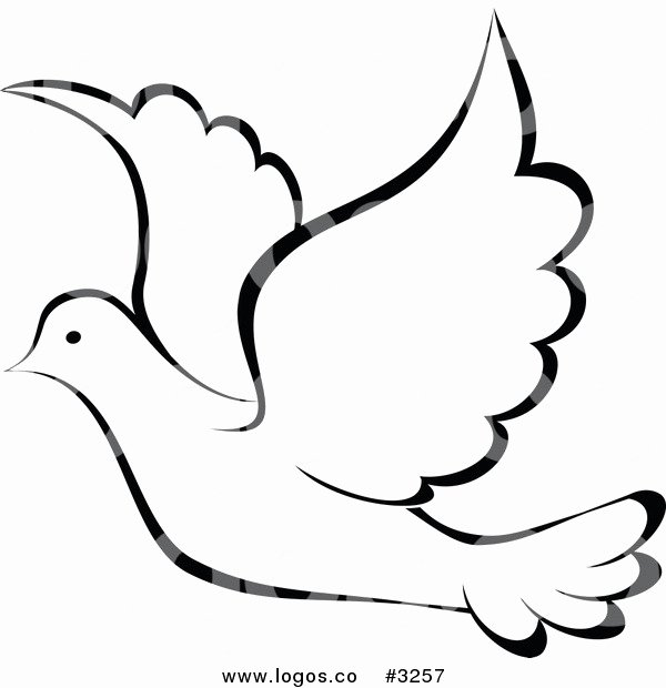 Free Printable Dove Template Luxury Peace Clipart Dove Outline Pencil and In Color Peace