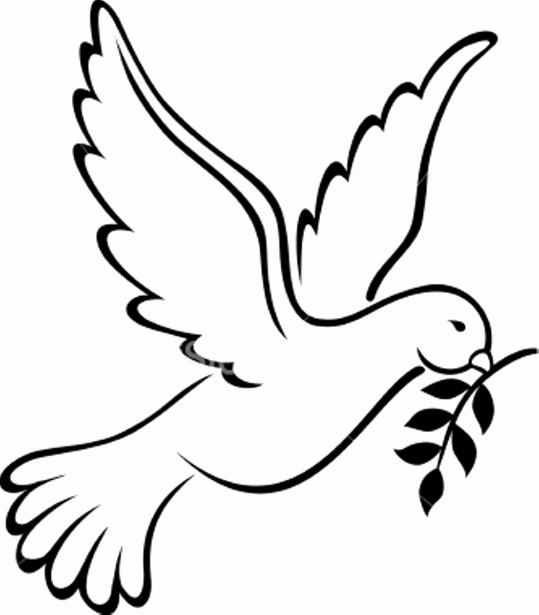 Free Printable Dove Template Luxury Peace Sign Template Cliparts