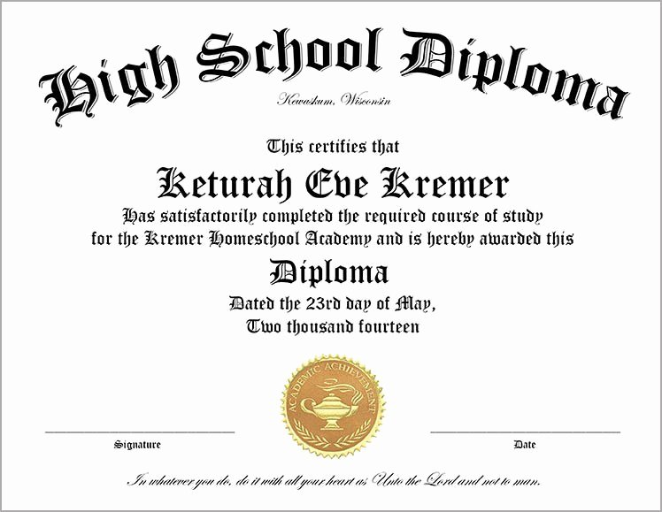 Free Printable Ged Certificate Awesome 60 Free High School Diploma Template Printable