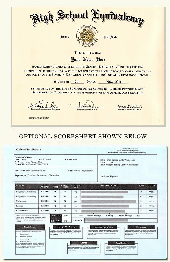 Free Printable Ged Certificate Luxury Fake Ged and Score Sheet