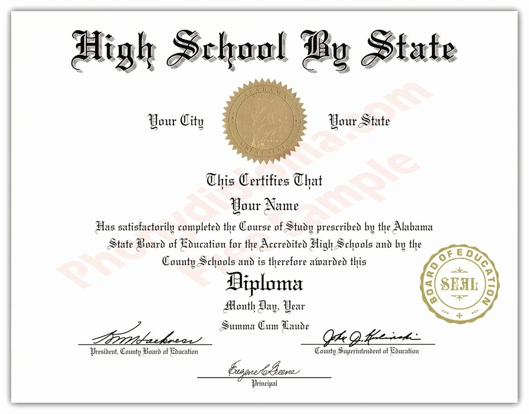Free Printable Ged Certificate New Fake Usa High School Diplomas by State Phonydiploma