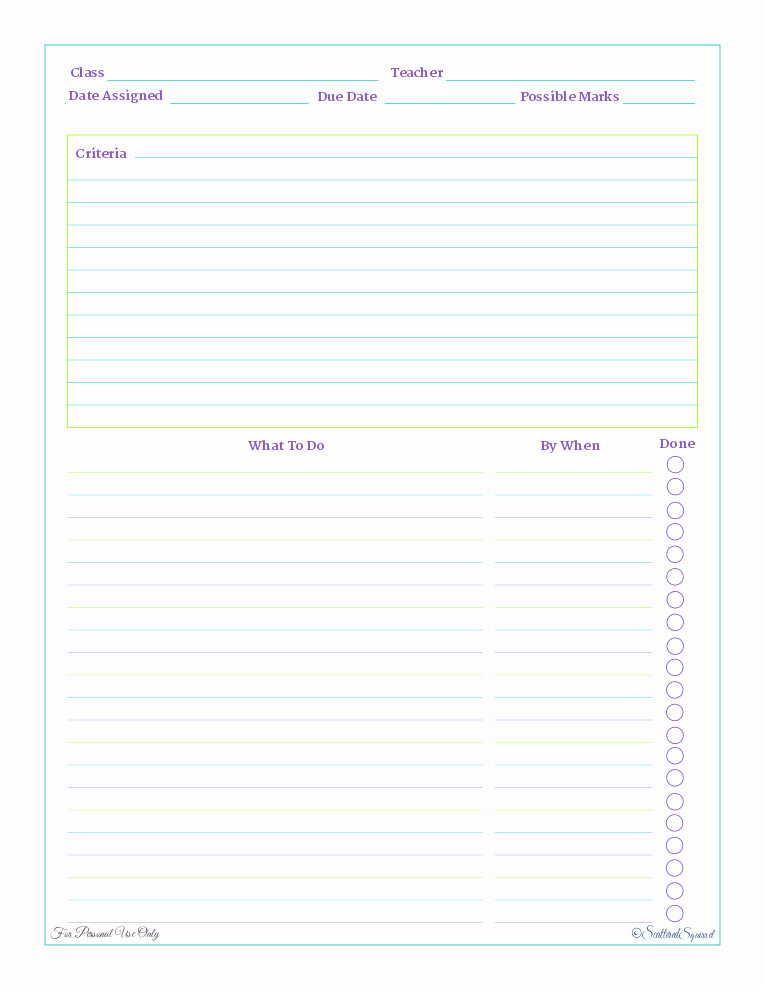 Free Printable Homework Planner Inspirational Home Work Planner A Reader Request Scattered Squirrel