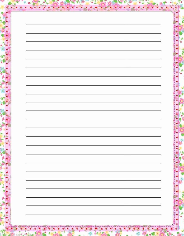 Free Printable Lined Stationary Fresh Elegant Floral Free Printable Stationery for Kids Primary