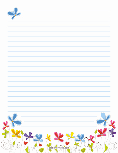 Free Printable Lined Stationary Fresh Floral Stationery and Writing Paper
