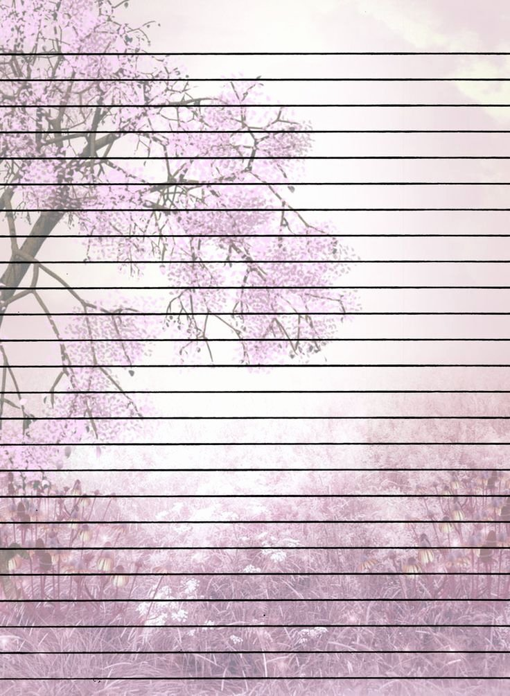 Free Printable Lined Stationary Fresh Tree with Flowers Lined Printable Stationary