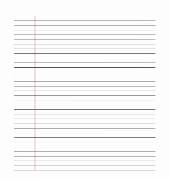 Free Printable Lined Stationary New 10 Lined Paper Templates Doc Pdf Excel