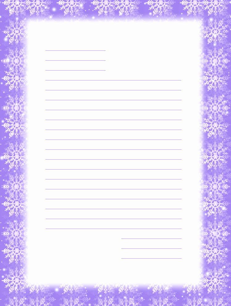 Free Printable Lined Stationery Best Of Free Printable Christmas Snowflake Stationery