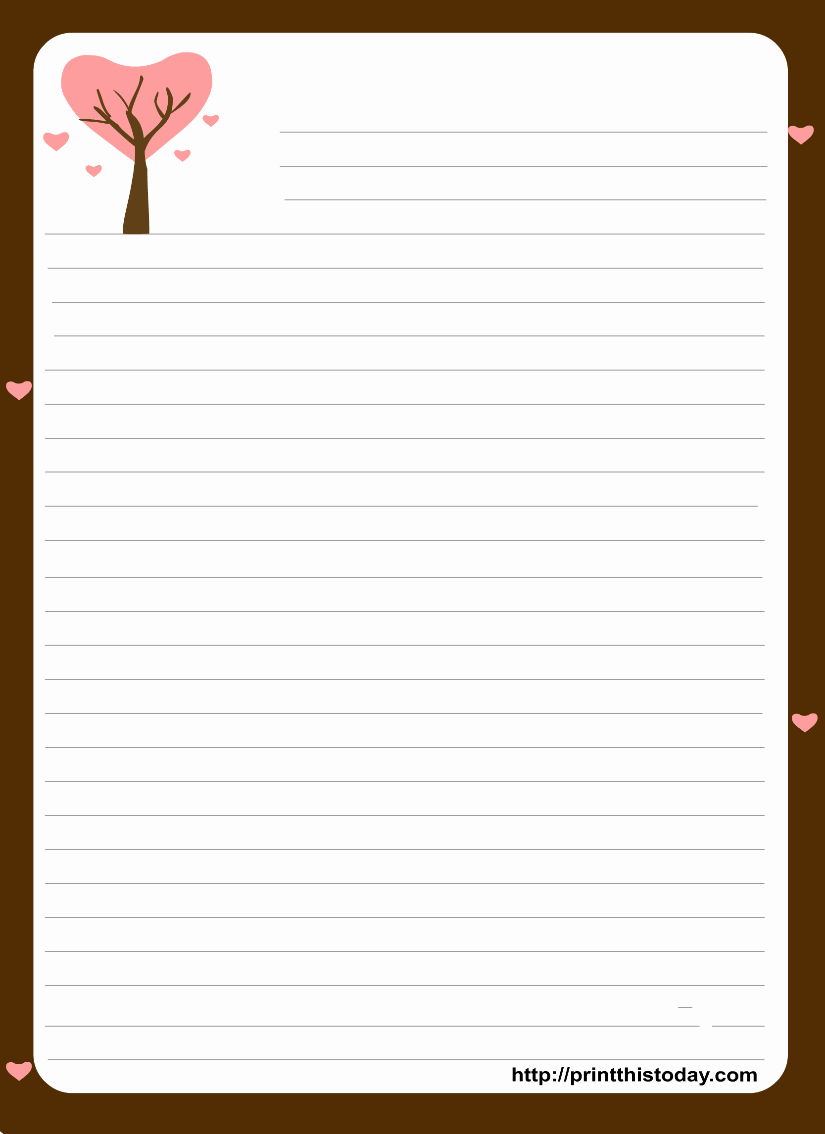 Free Printable Lined Stationery Best Of Free Printable Stationery Paper